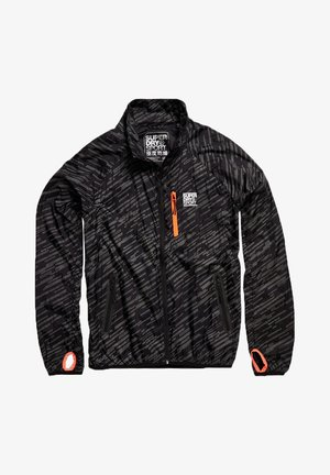 SUPERDRY TRAINING LIGHTWEIGHT REFLECTIVE JACKET - Leichte Jacke - black reflective