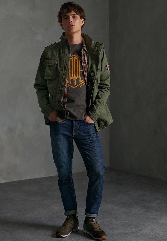 Superdry - CLASSIC ROOKIE - Summer jacket - army green