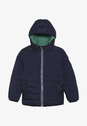 REVERSIBLE FUJI - Winterjas - downhill navy/fresh green