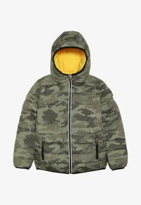 Superdry - REVERSIBLE FUJI - Chaqueta de invierno - olive/yellow - 4