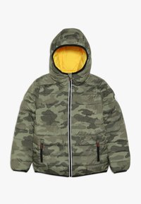 Superdry - REVERSIBLE FUJI - Chaqueta de invierno - olive/yellow - 0