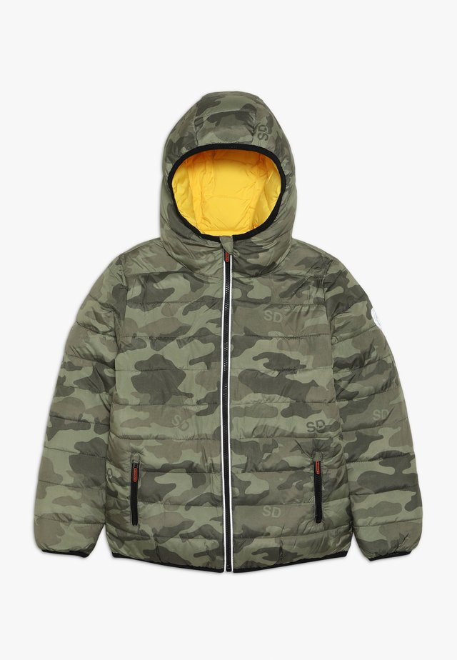 REVERSIBLE FUJI - Winter jacket - olive/yellow