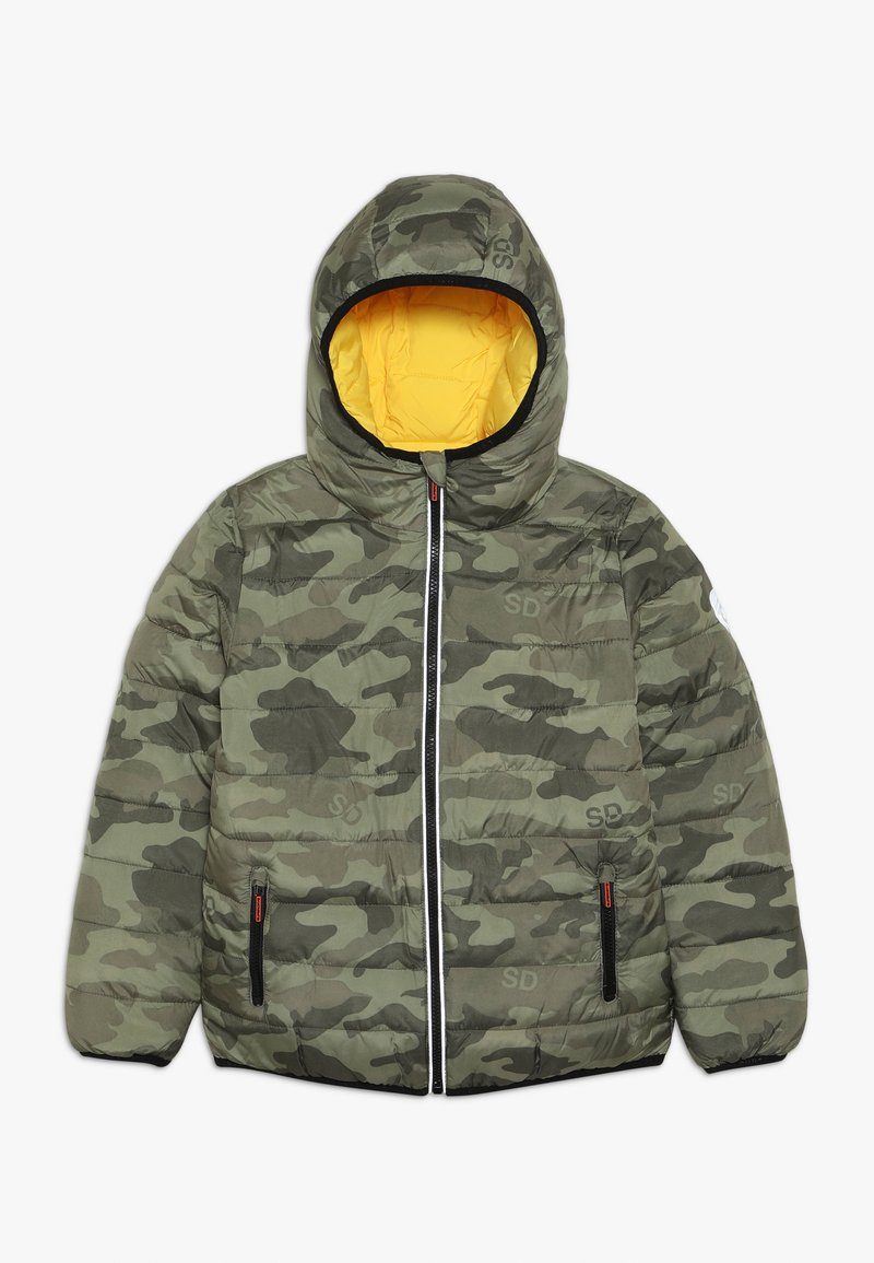Superdry - REVERSIBLE FUJI - Chaqueta de invierno - olive/yellow