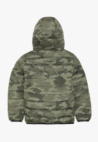 Superdry - REVERSIBLE FUJI - Chaqueta de invierno - olive/yellow - 1