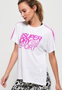 Superdry - CORE - T-shirt z nadrukiem - white - 0