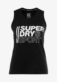 Superdry - CORE SPORT GRAPHIC - Top - black - 4
