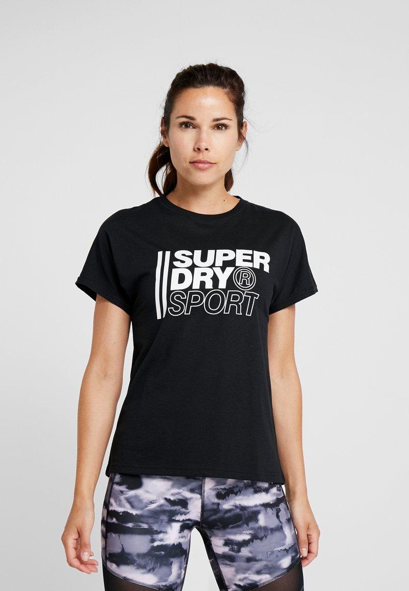 Superdry - CORE SPORT GRAPHIC TEE - Camiseta estampada - black