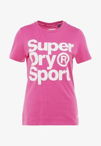 Superdry - HAZARD SPORT TEE - Triko spotiskem - fluro pink - 5
