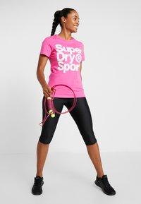 Superdry - HAZARD SPORT TEE - Print T-shirt - fluro pink - 1