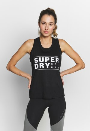 CORE SPORT GRAPHIC VEST - Top - black