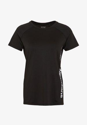 TRAINING ESSENTIAL TEE - Print T-shirt - black