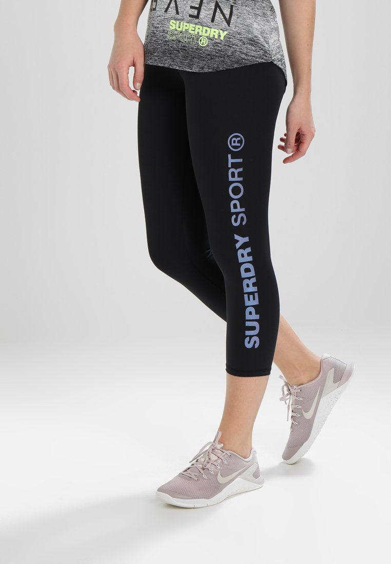 Superdry - SPORT LEGGING - Tights - black