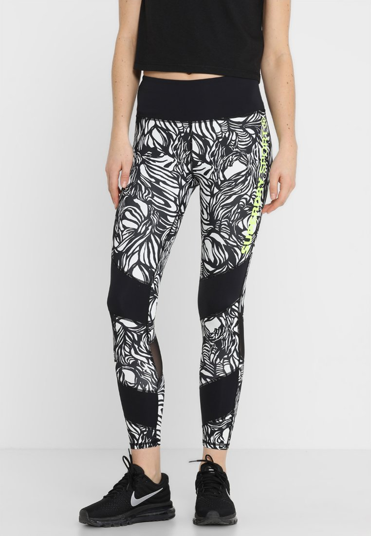 Superdry - ACTIVE LEGGINGS - Tights - tilly tiger