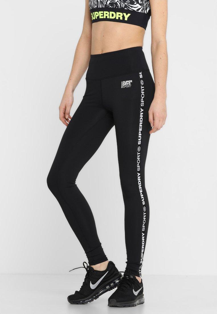Superdry - CORE BRANDED LEGGING - Tights - black