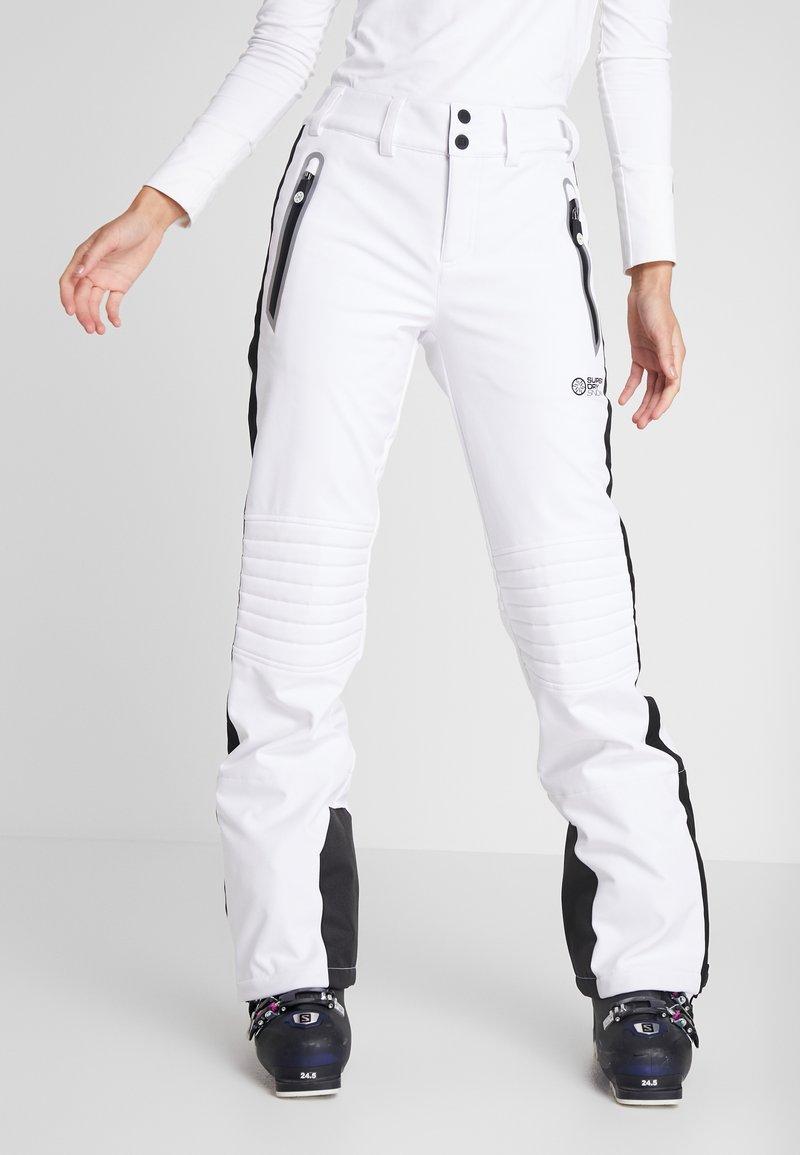 Superdry - SKI CARVE PANT - Täckbyxor - arctic white