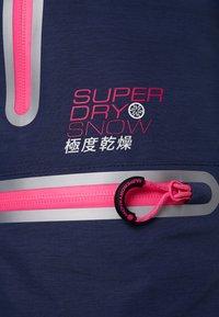 Superdry - SLALOM SLICE SKI PANT - Skibroek - vortex navy space dye - 9