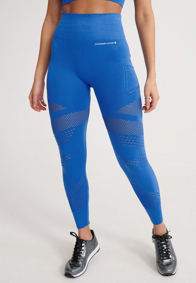 SUPERDRY TRAINING CONTOUR LEGGINGS - Leggings - 70s blue