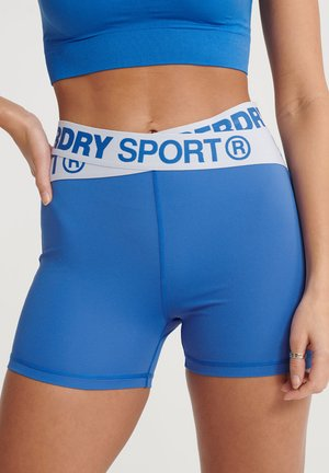 SUPERDRY TRAINING CROSS SHORTS - Korte broeken - 70s blue