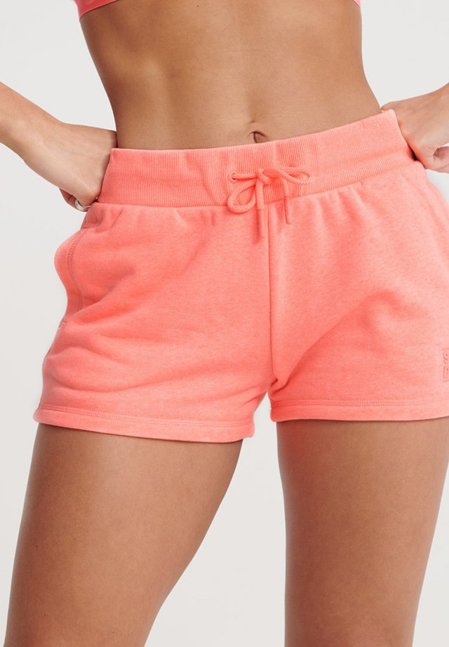 SUPERDRY CORE SPORT SHORTS - Träningsshorts - phosphorescent coral