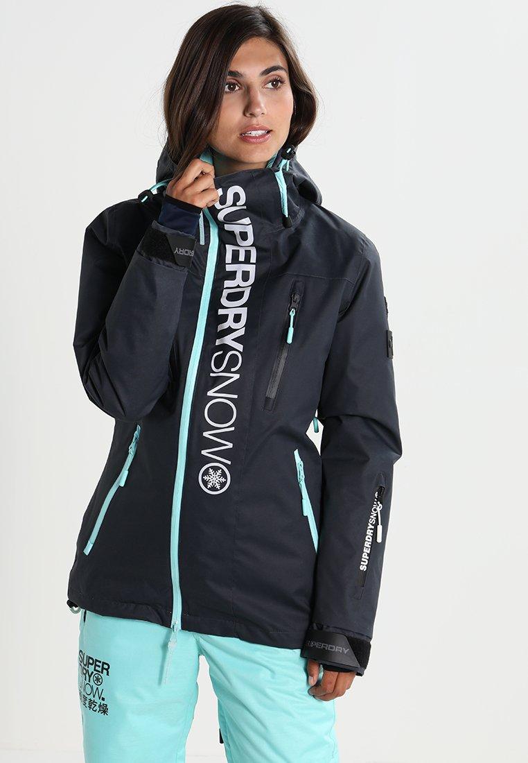 Superdry - Snowboardjas - scratch navy/fluro mint