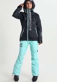 Superdry - Snowboardjas - scratch navy/fluro mint - 1