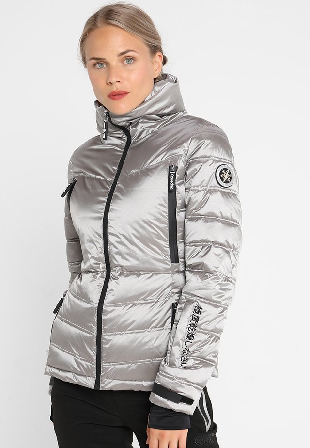 CHEVRON FUNNEL PUFFER - Ski jas - silver shimmer