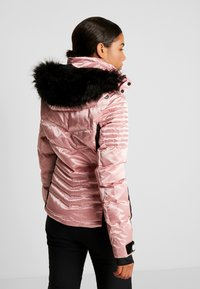Superdry - LUXE SNOW PUFFER - Ski jas - ice pink metallic - 2