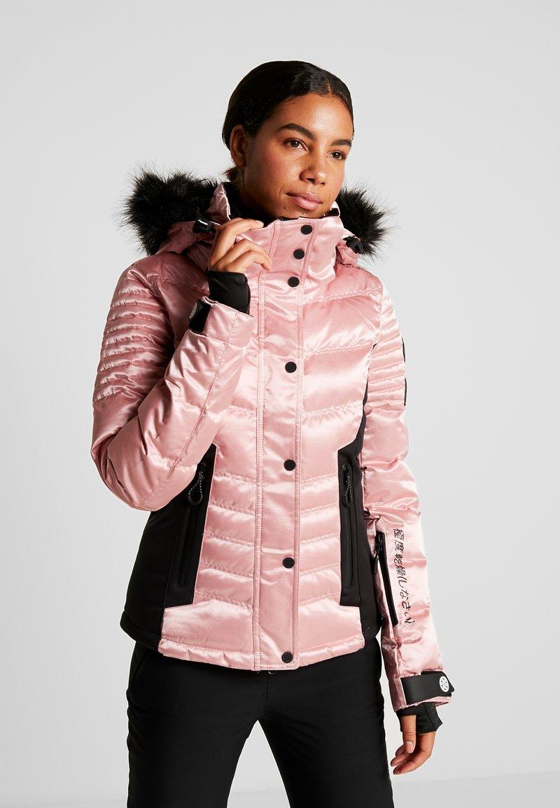 Superdry - LUXE SNOW PUFFER - Skidjacka - ice pink metallic