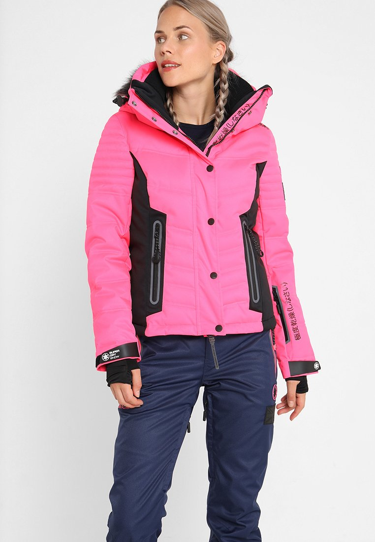 Superdry - LUXE SNOW PUFFER - Veste de ski - luminous pink sheen