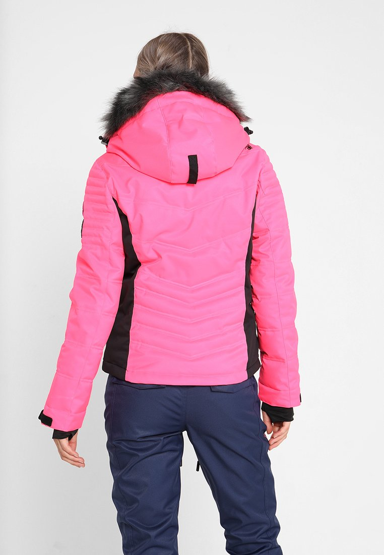 LUXE SNOW PUFFER Ski jacket luminous pink sheen