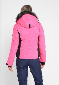 Superdry - LUXE SNOW PUFFER - Veste de ski - luminous pink sheen - 2