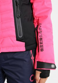 Superdry - LUXE SNOW PUFFER - Veste de ski - luminous pink sheen - 7