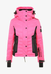 Superdry - LUXE SNOW PUFFER - Veste de ski - luminous pink sheen - 8