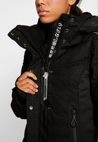 Superdry - LUXE SNOW PUFFER - Skidjacka - onyx black frost - 8