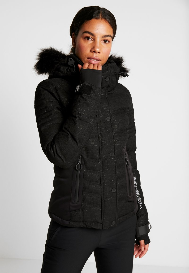 Superdry - LUXE SNOW PUFFER - Skidjacka - onyx black frost