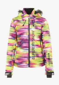 Superdry - SKI RUN JACKET - Kurtka snowboardowa - pink/yellow