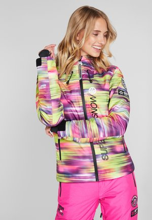 SKI RUN JACKET - Snowboardjacka - pink/yellow