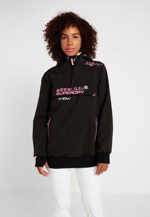 SNOW TECH HALF ZIPHOOD - Ski jas - flat black