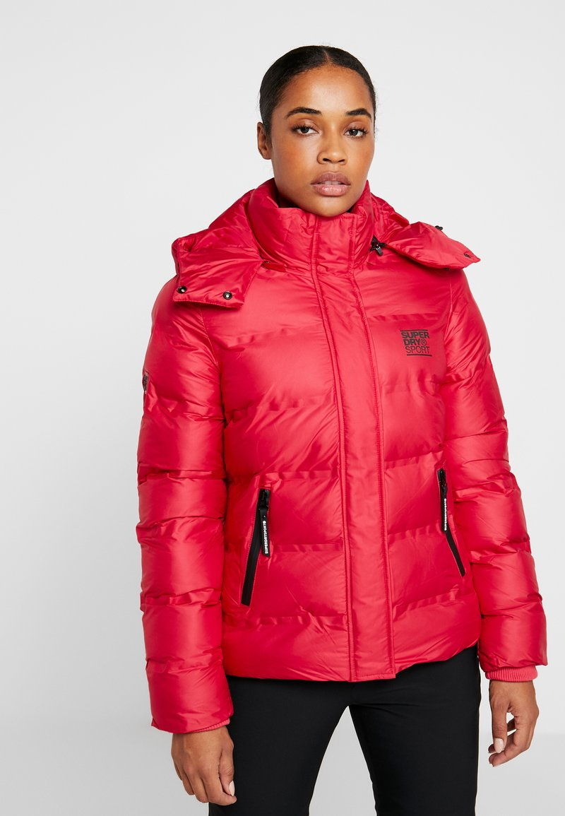 Superdry - KOANDA PUFFER JACKET - Skijakker - raspberry red
