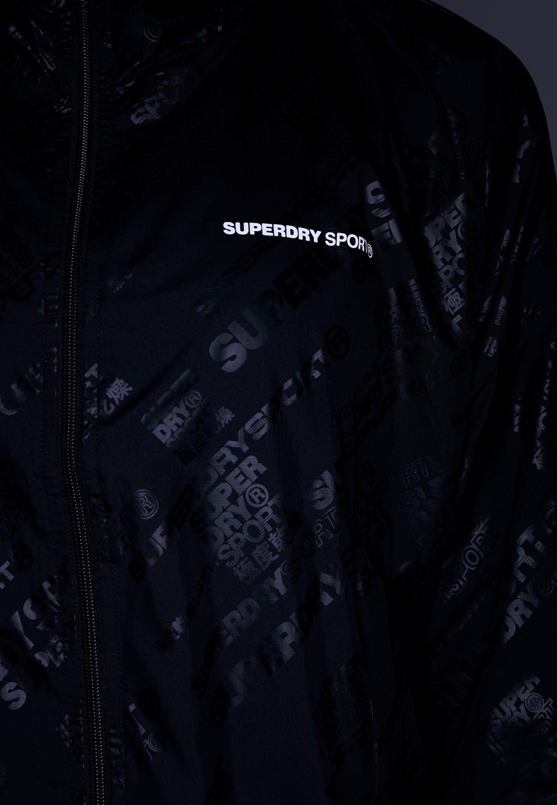 Superdry Survêtement Black Active JacketVeste De Batwing iOXZTPku