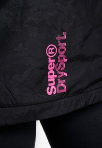Superdry - SPORT CAGOULE - Trainingsvest - black/flu pink - 7