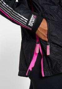 Superdry - SPORT CAGOULE - Trainingsvest - black/flu pink - 4