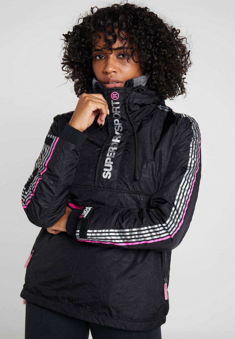 Superdry - SPORT CAGOULE - Trainingsvest - black/flu pink