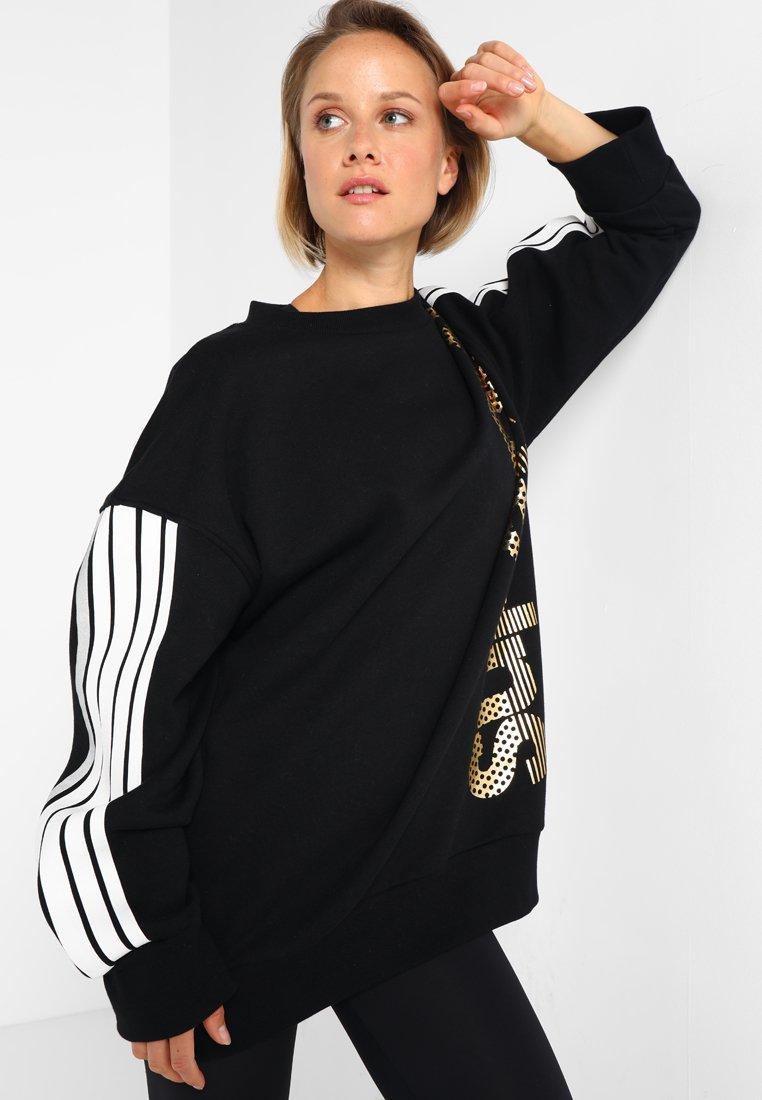 Superdry - CLASSICS CREW - Sweatshirts - black/gold
