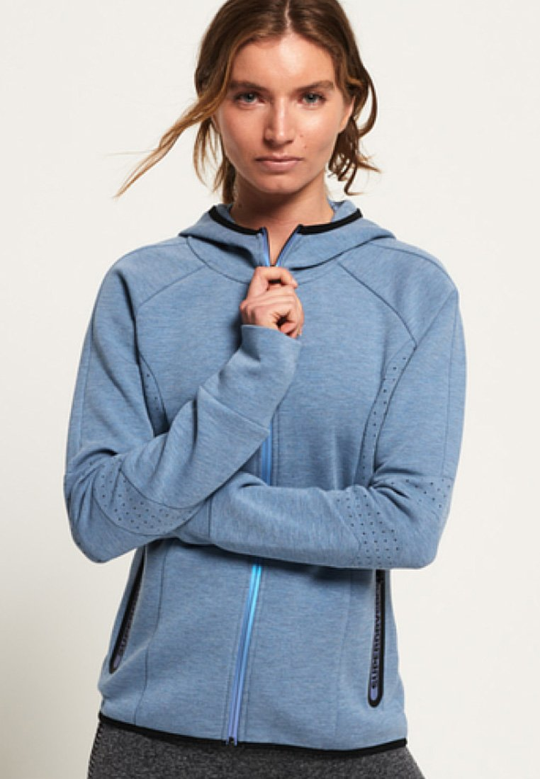 Superdry - CORE GYM TECH PANEL  - Zip-up hoodie - blue