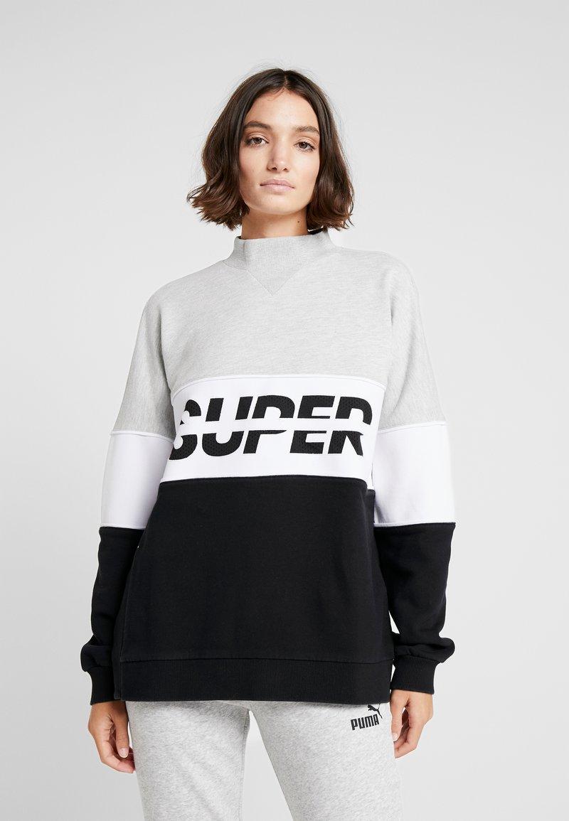Superdry - SPORT PUSHER CREW - Sweatshirt - black