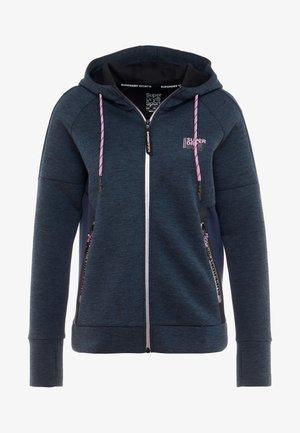 CORE GYM TECHZIP THROUGH - Zip-up hoodie - deep teal