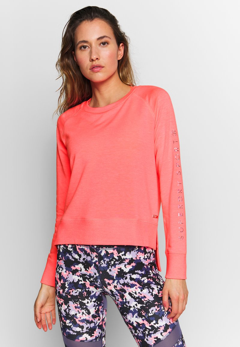 Superdry - STUDIO CREW - Sweatshirt - phosphorescent coral