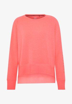 STUDIO CREW - Sweatshirt - phosphorescent coral