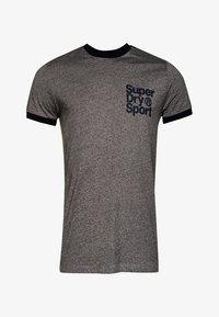 Superdry - TOKYO RINGER  - T-shirt print - dark grey grit - 0